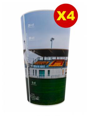 LOT DE 4 GOBELETS ECO CUP 30cl