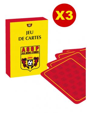 LOT DE 3 JEUX DE CARTES
